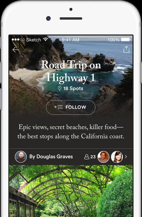Road Trip On Highway 1 list screenshot