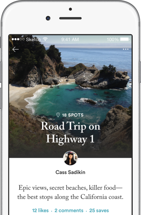 Road Trip On Highway 1 list screenshot